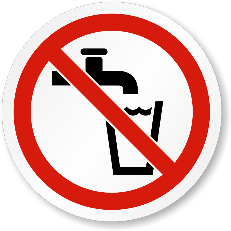 not-drinking-water-iso-sign-is-1052