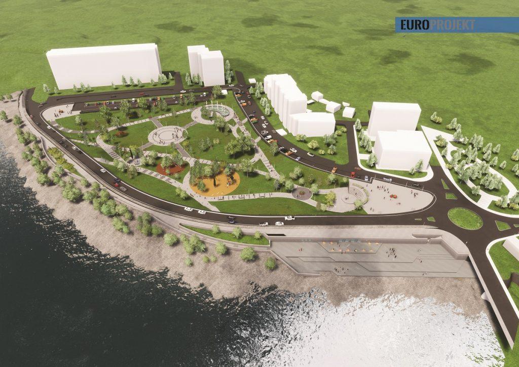 Идејно рјешење градског парка и плаже у Беранама