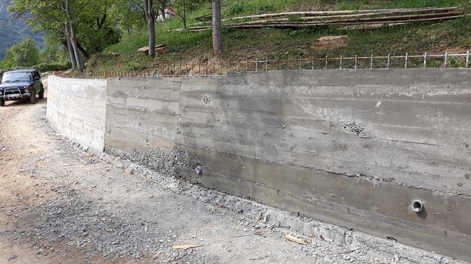 Завршен потпорни зид у Шекулару