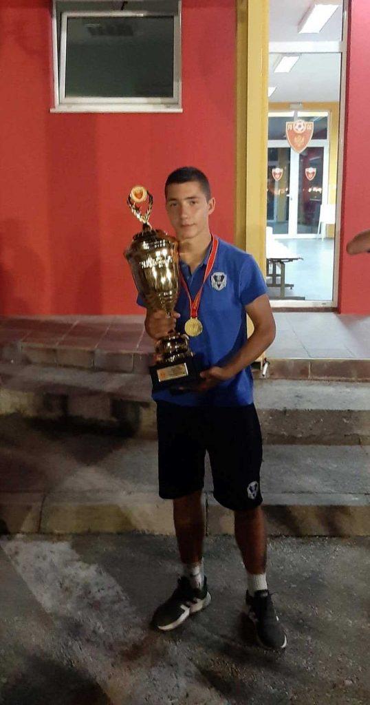 Лука Бубања, један од најбољих младих фудбалера Црне Горе