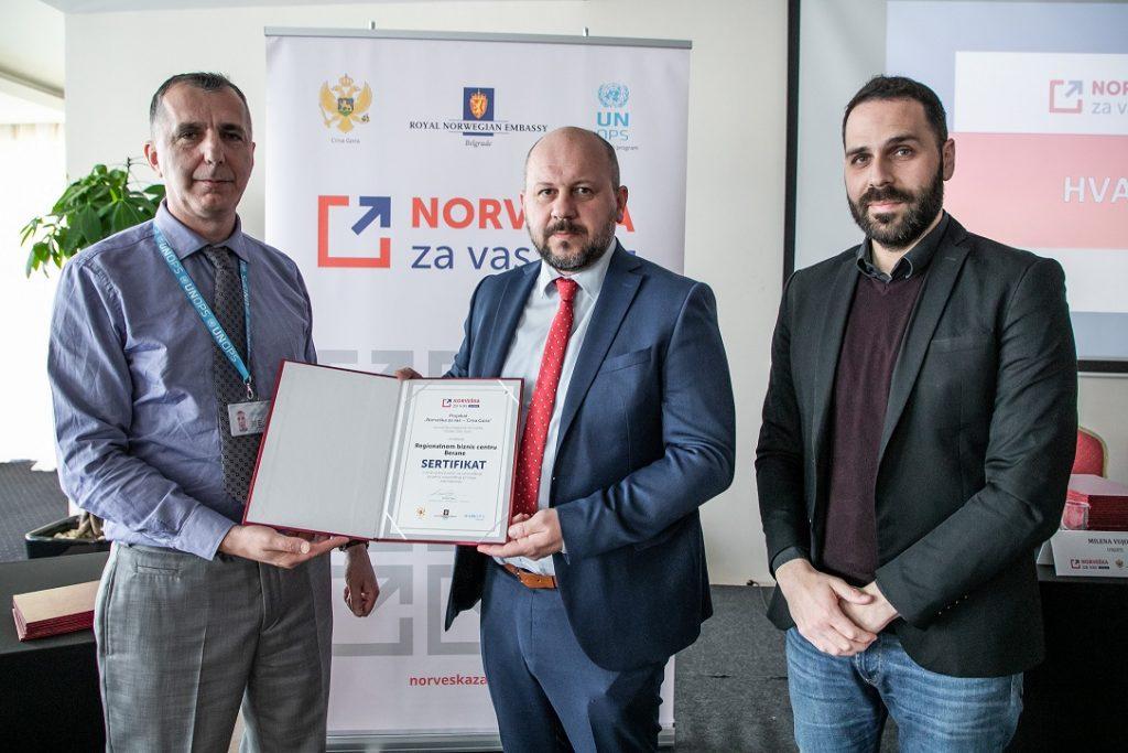 Донација Норвешке Регионалном бизнис центру за пројекат подршке пословању МСП