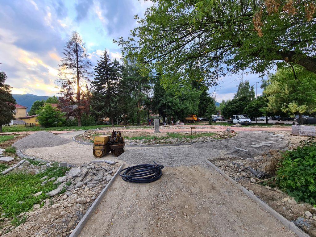 Цветни парк добија нови изглед, радови у току