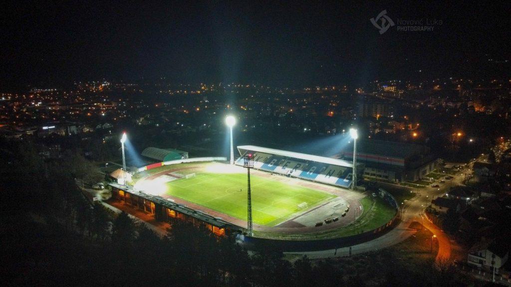 Засијали рефлектори на Градском стадиону