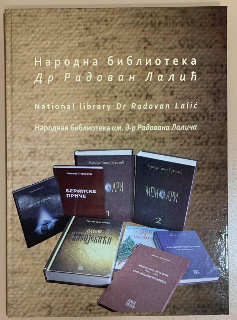 Centar za kulturu objavio knjigu o biblioteci  dr Radovan Lalić